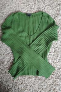 zielony klasyczny sweterek s m...
