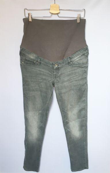 Spodnie Spodnie Szare H&M Mama XL 42 Skinny Rurki Dzinsowe Jeans