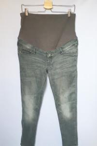 Spodnie Szare H&M Mama XL 42 Skinny Rurki Dzinsowe Jeans...