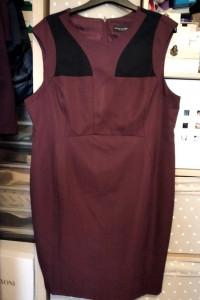 Śliwkowo czarna sukienka Dorothy Perkins rozmiar 48