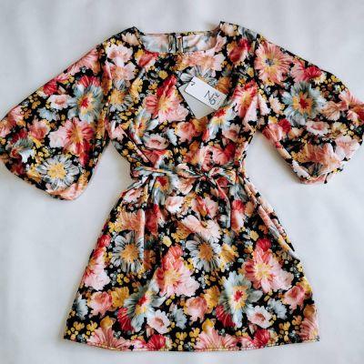 Suknie i sukienki Sukienka FLOWERS BLACK