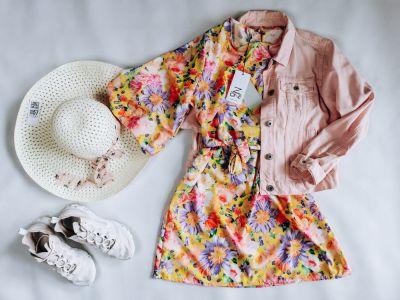 Suknie i sukienki Sukienka FLOWERS YELLOW