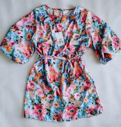 Suknie i sukienki Sukienka FLOWERS BLUE