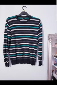 Męski sweter w paski...
