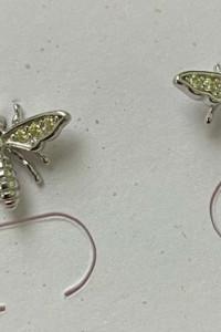 Kolczyki pszczółki srebro 925