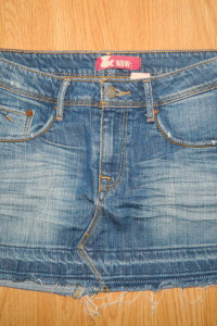 & NOW jeansowa mini spódnica roz 36...