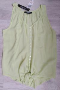 Context bluzka damska 36 S basic zielona seledynowa wiązanie z ...