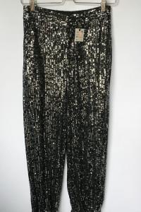 Spodnie Cekiny NOWE Czarne Srebrne Zara XS 34...
