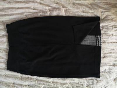 Spódnice Czarno biała ołówkowa elegancka spódnica