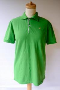 Koszulka Polo Burberry L 40 Polówka Zielona Kratka...