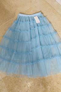 Tiulowa spódnica hiszpanka baby blue błękit rozm uni...