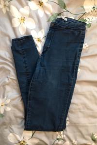 Spodnie jegginsy z wysokim stanem