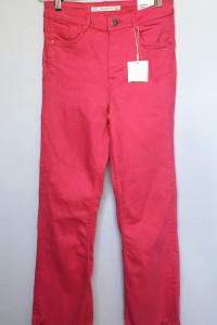 Spodnie NOWE Różowe Fuksja Zara Postrzępione Proste Nogawki XS ...