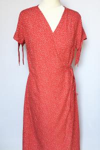 Sukienka Kropki NOWA Kopertowa Groszki Czerwona XL 42 Tom&Rose...
