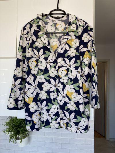 Bluzki Zara bluzka kwiaty floral koszulowa rozmiar XS nie była noszona