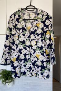 Zara bluzka kwiaty floral koszulowa rozmiar XS nie była noszona...