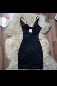 koszula nocna piżama czarna nowa body siatka satynowa hit xs s seksowna bielizna kobieca erotyczna