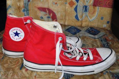Trampki Buty Converse 39 czerwone wysokie