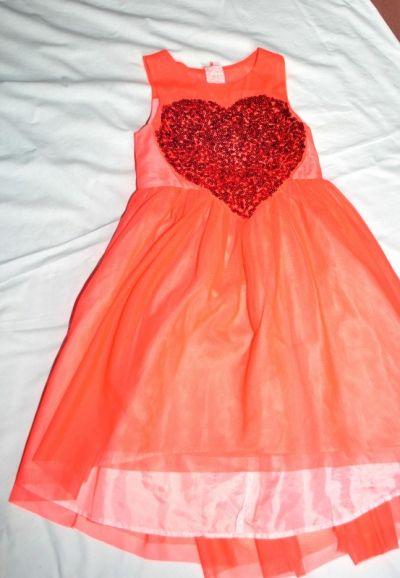 Sukienki i spódniczki Sukienka Czerwona Serce H&M 128