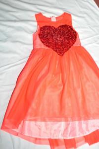 Sukienka Czerwona Serce H&M 128
