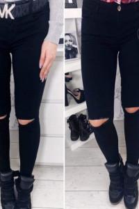 Nowe spodnie rurki z dziurami WYSYŁKA GRATIS...