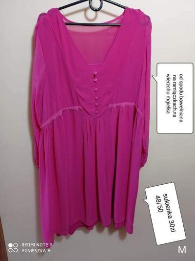 Suknie i sukienki Sukienka 4850 zwiewna lekka dwie warstwy