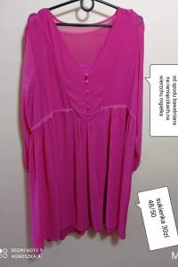 Sukienka 4850 zwiewna lekka dwie warstwy...