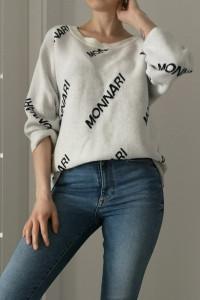 Monnari sweter beż 3 4 rękaw oversize rozmiar S
