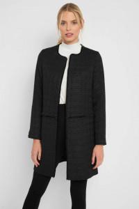 Nowy płaszcz Orsay L 40 czarny płaszczyk prosty pudełkowy klasy...