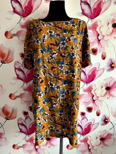 Suknie i sukienki boohoo sukienka mini luźny fason modny wzór kwiaty boho hit 44