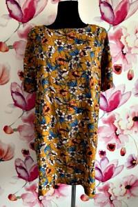 boohoo sukienka mini luźny fason modny wzór kwiaty boho hit 44...