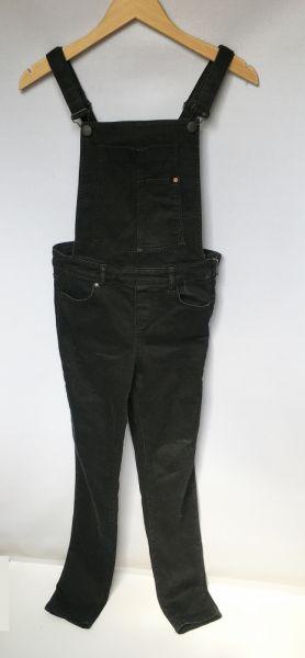 Kombinezony Ogrodniczki Dzinsowe Czarne Rurki Cubus Slim S 36 Jeans