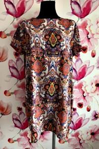 boohoo sukienka mini luźny fason modny wzór boho hit 44