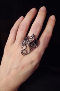 pierścionek gothic victorian...