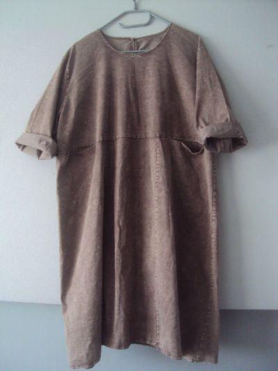 Suknie i sukienki dekatyzowan sukienka z kieszeniami