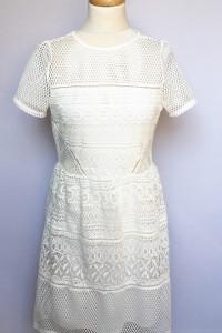 Sukienka Biała Koronkowa Gina Tricot M 38 Ażurowa Biel