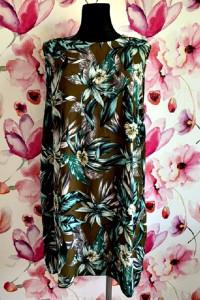 dorothy perkins sukienka luźny fason modny wzór kwiaty zip 48...