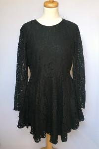Sukienka Czarna H&M XL 42 Koronkowa Koronka Rozkloszowana...