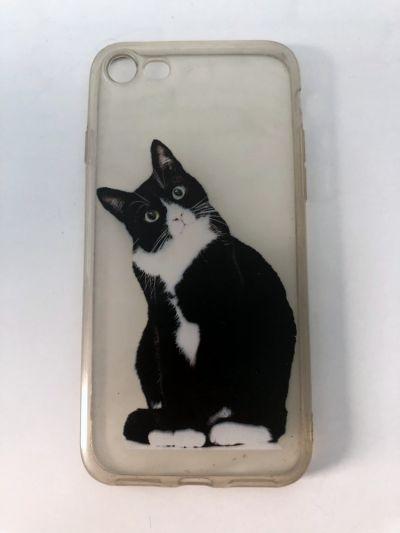 Obudowy i etui Case iPhone 7 8 SE 2020 clear przezroczysty kot kotek cat kitty stan BDB