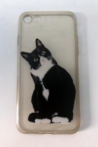 Case iPhone 7 8 SE 2020 clear przezroczysty kot kotek cat kitty...