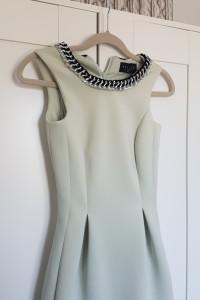Miętowa sukienka Mohito r XS