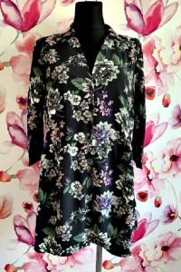 bodyflirt sukienka mini koszulowa modny wzór kwiaty 40...