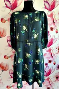oasis sukienka modny wzór kwiaty motyle jak nowa hit 40...