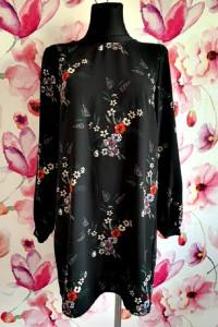 h&m sukienka luźny fason modny wzór kwiaty floral hit 38...