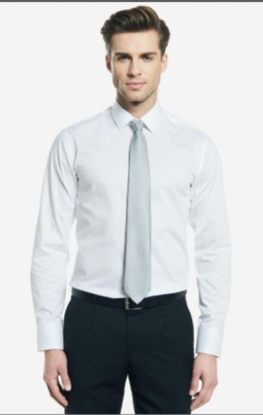 Koszule Koszula biała Wólczanka prążkowana rozmiar 42 nowa