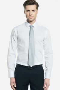 Koszula biała Wólczanka prążkowana rozmiar 42 nowa