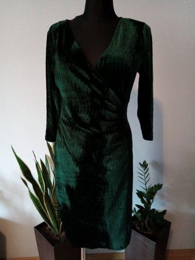 Suknie i sukienki Sukienka welurowa zielona