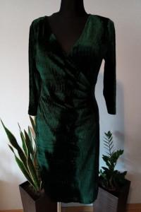 Sukienka welurowa zielona...