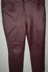3 Bordowe woskowane spodnie next 48...