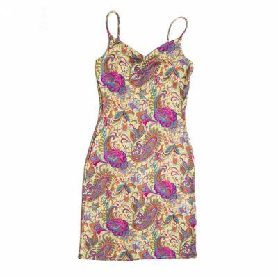 Suknie i sukienki Sukienka vintage w kolorowe wzory elastyczna S 36